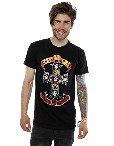 Guns N Roses Men's Appetite For Destruction T-Shirt Medium Black
