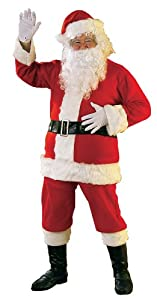 Rubie's Costume Flannel Santa Suit with Beard and Wig, Red/White, Standard