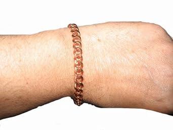 "Solid Pure Copper Link Bracelet Anklet Made in USA (8"")"
