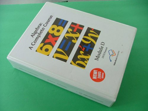 Algebra: A Complete Course: Module D, DVD (Videotext Algebra Module D compare prices)