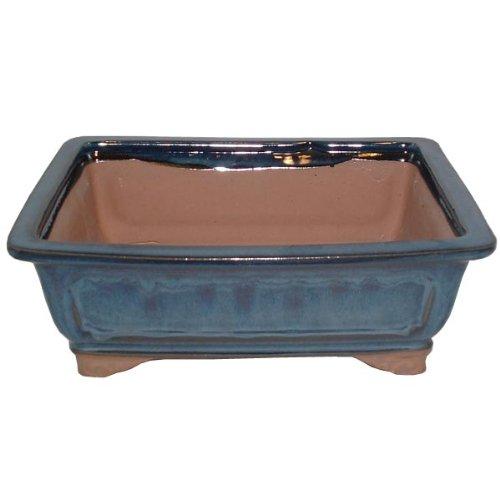 26cm Blue Glazed Bonsai Pot