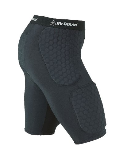 McDavid Hexpad Thudd Short With Hexpad Thigh pads,Black,Medium