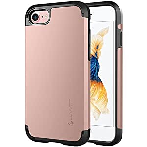 iPhone 7 Case, LUVVITT [Ultra Armor] Shock Absorbing Case Best Heavy Duty Dual Layer Tough Cover for Apple iPhone 7 - Rose Gold