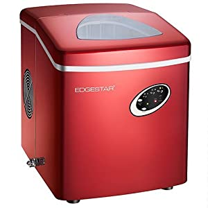 EdgeStar IP210RED Portable Ice Maker, Red