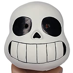 Undertale Sans Helmet Deluxe Latex Full Head Mask Halloween Cosplay Props Kids Xcoser