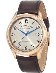 Stuhrling Prestige Men's 171B2.3345K54 Swiss Made Cuvette Automatic Date Brown Watch