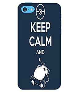 APPLE IPHONE 5C KEEP CALM Back Cover by PRINTSWAG