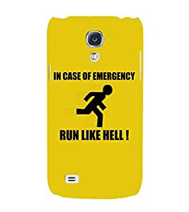 EPICCASE Run like hell Mobile Back Case Cover For Samsung Galaxy S4 (Designer Case)