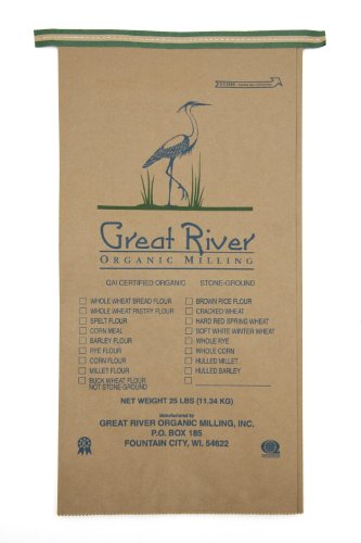 Great River Organic Milling, Organic Seven Grain Bread Flour Blend, 25-Pound Package (Seven Grain Bread compare prices)