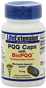 Life Extension Bio Pyrroloquinoline Quinone,10 mg, 30  Vegetarian Capsules,