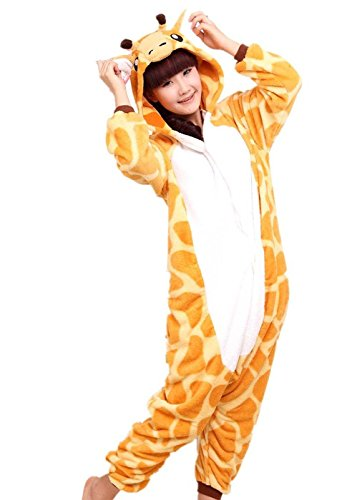 Women Men Adult Giraffe Unisex Anime Christmas Halloween Carnival Cosplay Kigurumi Outfit Costume Onesies Pajamas Romper Clothing Piece suits