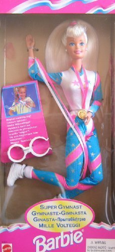 Super Gymnast Barbie Doll w Tumbling Ring (1995) by Barbie