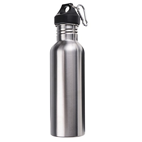 Newest 750ML Stainless Steel Wide Mouth Water Bottle With Outdoor Carabiner Sporting Water Bottle Cup Cycling Water Bottle (Induction Crab Pot compare prices)