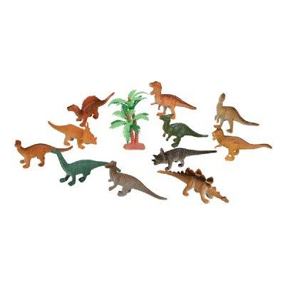 Dozen Small Toy Dinosaurs: 2 inch Plastic Toy Dino Figures