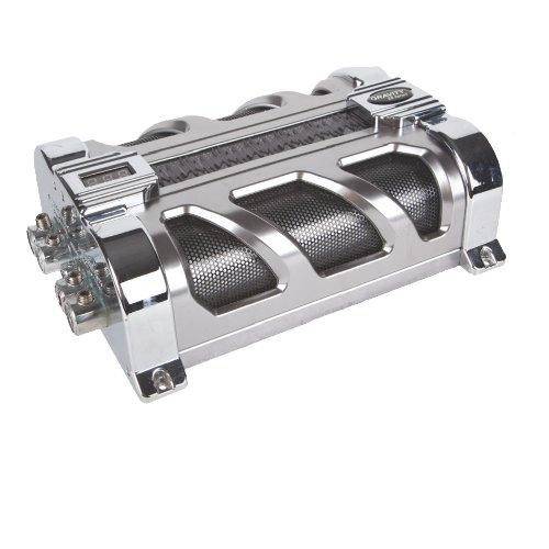 Gravity Audio 20 Farad Hybrid Capacitor Block With Stain Chrome Led & E.S.R. (Gr-20Pro)