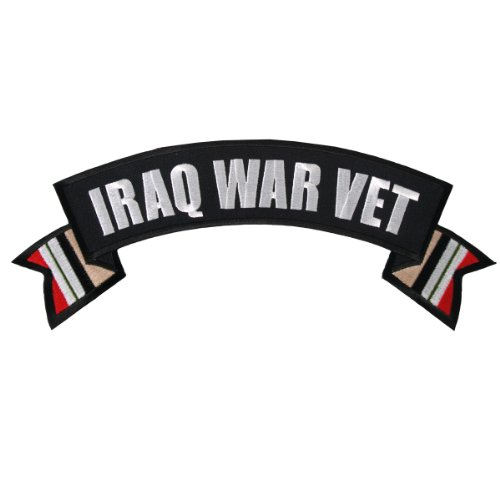 Hot Leathers Iraq War Vet Banner Patch (11