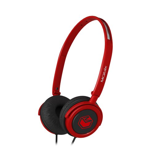 Mqbix Mqhp300Red Vortex Street Style Stereo Headphones - Red