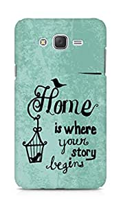 AMEZ home is where your story begins Back Cover For Samsung Galaxy J7