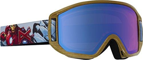 Anon-Maschera da snowboard da ragazzo, modello Relapse Jr MFI, Ragazzo, Snowboardbrille Relapse JR MFI, Ironman/Blue Amber, taglia unica