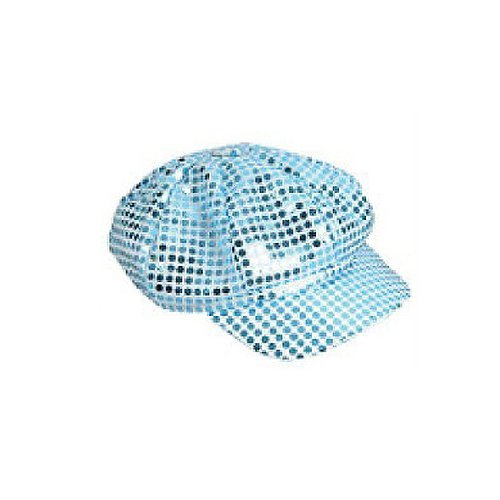 Sequin Newsboy Hat Diva Hat Select Color: blue - 1