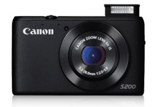 Amazon – Canon PowerShot S200 10.1 MP (Black) + Freebies @ 11979/- (Lowest online) !!