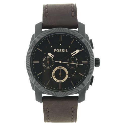 Fossil Men's FS4656 Leather Crocodile Analog with Brown Dial Watch