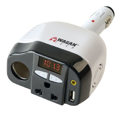 Wagan 2413-6 Smart AC 120 USB Inverter with FM Transmitter