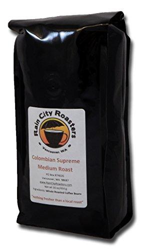 "Rain City Roasters ""Colombian Supreme"" Medium, Micro-Roasted Whole Bean Coffee 16Oz"