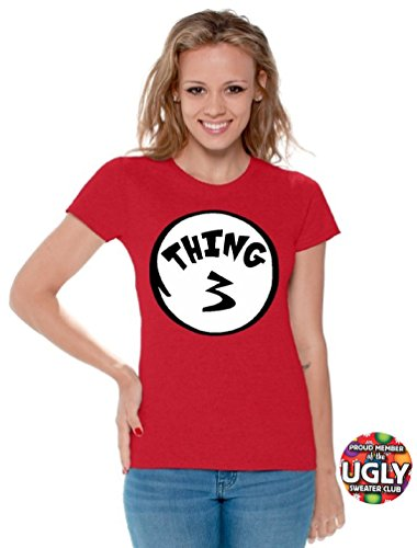 icustomworld Women`s thing 1 and thing 2 shirts (S, Thing 3)