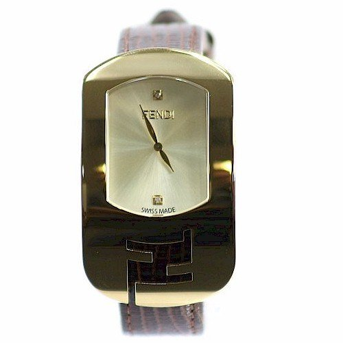 Fendi Women's Chameleon F300435021D1 Brown Leather Analog Watch