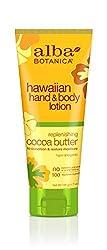 Alba Botanica Cocoa Butter Hand & Body Lotion 7 Ounce Bottle