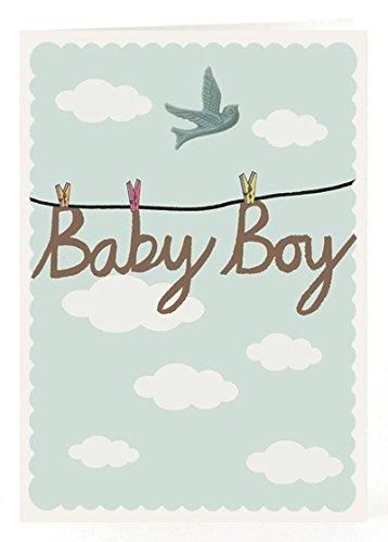 Petra Boase Resin Bird Card - Baby Boy front-459471