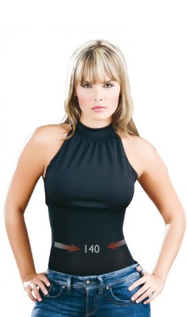 Women's Sandra reducer body.Low back cut neck to tie up to the neck. High neck fashion design. Waist control.Use size verifier table to ensure the proper fit.