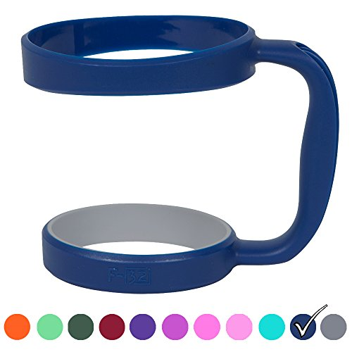 F-32 Color Handle available for 30oz or 20oz YETI Rambler, RTIC, OZARK TRAIL, SIC CUP Tumbler & more - 12 colors - Seafoam Blue Purple Hot Pink Gray Wine Neon Orange Green & more (30OZ, DEEP BLUE)