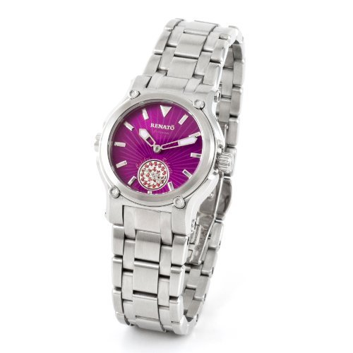 Renato Ladies Swiss Made Quartz 0.15cttw Genuine Pink Topaz Gemstones Watch - Numbered Limited Production
