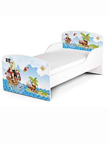 PriceRightHome Pirates Design MDF Toddler Bed no storage + Deluxe Mattress