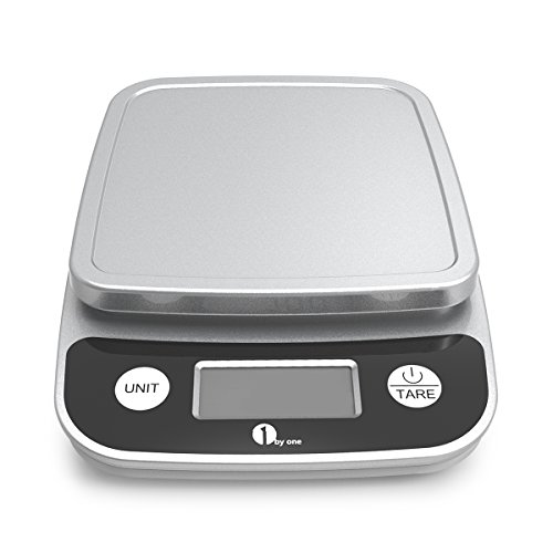 1byone Digital Display Kitchen Scale for Precise Cooking and Baking, Multifunction with Range From 0.04oz (1g) to 11lbs, Elegant Black