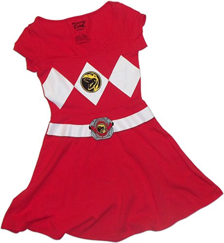 Red Ranger Costume -- Mighty Morphin Power Rangers Cosplay Dress, Large