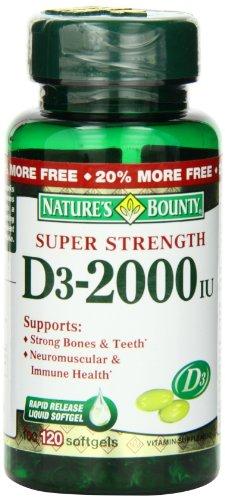 Nature'S Bounty Vitamin D3 - 2000Iu, 100 Softgels