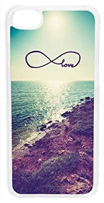 Click for CellPowerCasesTM Costal Love Infinity Case for iPhone 5c (White Case)