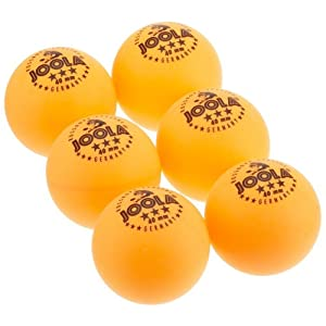 JOOLA ROSSI Three-Star Orange 40mm Table Tennis Balls, 6-Count