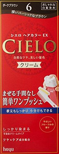 ホーユー シエロ ヘアカラーEX クリーム 6 (ダークブラウン) 40g+40g