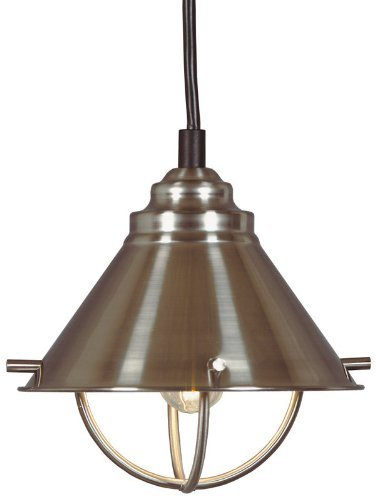Kenroy Home 66342BS Harbor Mini-Pendant, Brushed Steel