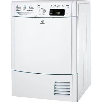 Indesit IDCE8450BH 8kg Freestanding Condenser Tumble Dryer Polar White