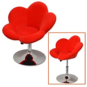 Bar stool red flower design lounge chair bar chair club for Rote barhocker