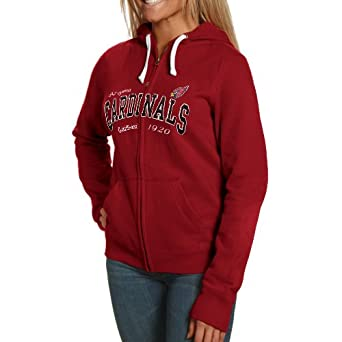 NFL Arizona Cardinals Ladies Second Round Full Zip Hoodie - Cardinal by Football Fanatics