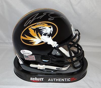 Justin Smith Autographed Missouri Tigers Mini Helmet- W Authenticated - JSA Certified - Autographed College Mini Helmets sale off 2015