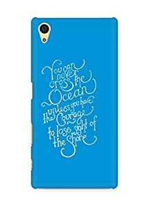 AMEZ you can never cross the Ocean Back Cover For Sony Xperia Z5