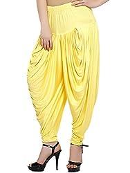 Sakhi Sang Womens Viscose Dhoti Salwar (FSS0832_Bright Yellow_Free Size)