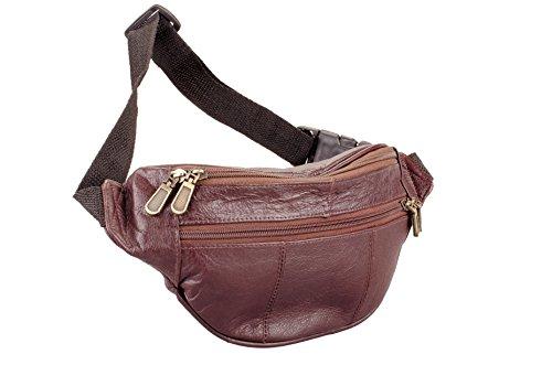 Leather Fanny Waist Pack (Dark Brown)